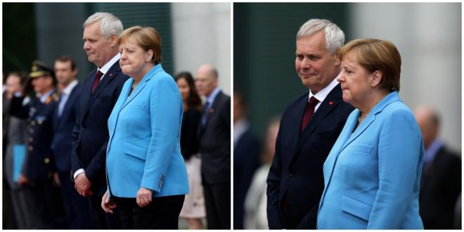 Во время нового приступа дрожи Ангела Меркель повторяла одну и ту же фразу