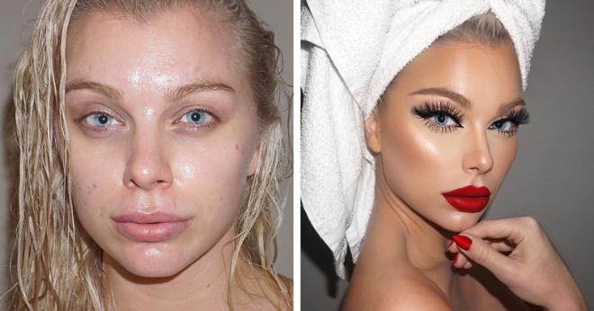 Если вы считаете нанесение макияжа бесполезным делом, посмотрите эти фотографии