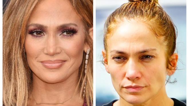 50-летняя Дженнифер Лопес не боится выйти на улицу без макияжа