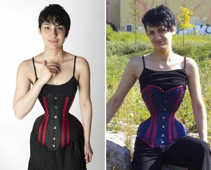 Как выглядят женщины с самой тонкой талией в мире