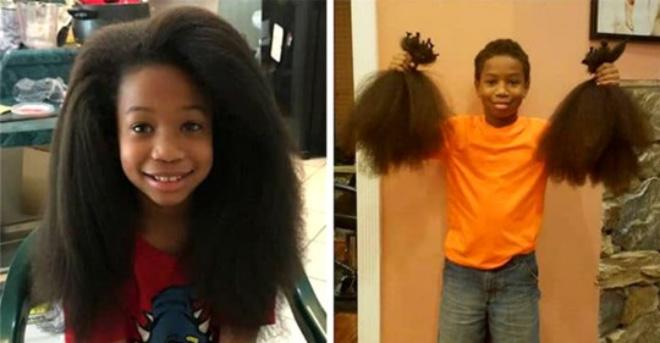 Мальчик отращивал волосы 2 года на парики для детей с раком. Удивительно трогательная история!