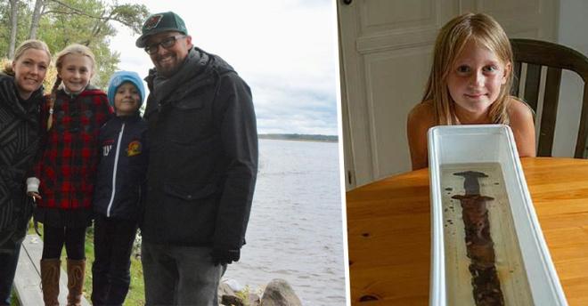 8-летняя девочка нашла в озере древний меч викингов. Теперь ее называют законной королевой Швеции