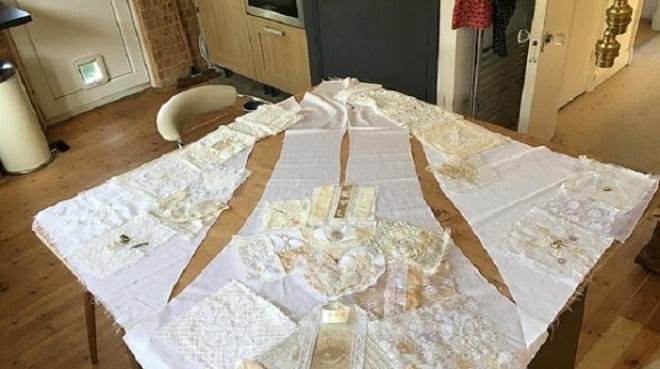 Друзья невесты принесли свою ткань и сделали ей шикарное платье