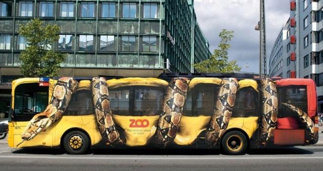 ТОП-7 самых креативных примеров рекламы на автобусах