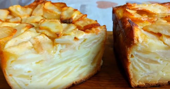 Пирог превзошел шарлотку. При выпечке тесто превращается в крем!