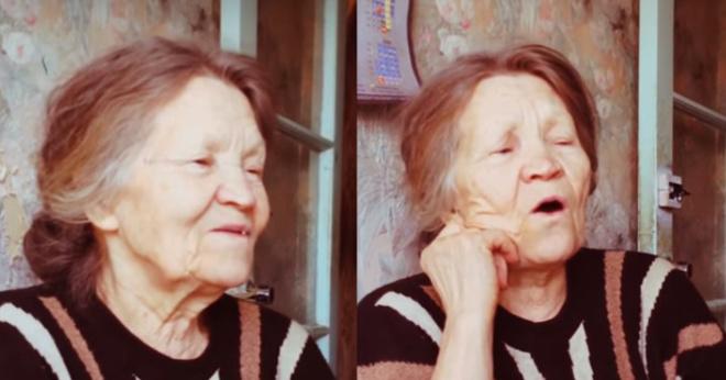 Внучка засняла потрясающее видео, на котором поет ее бабушка