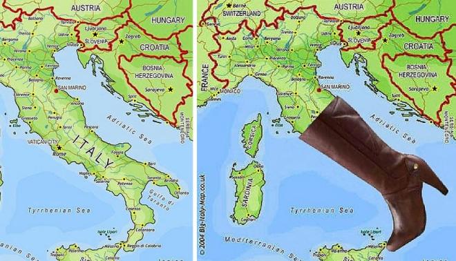 Страны Европы в забавных иллюстрациях