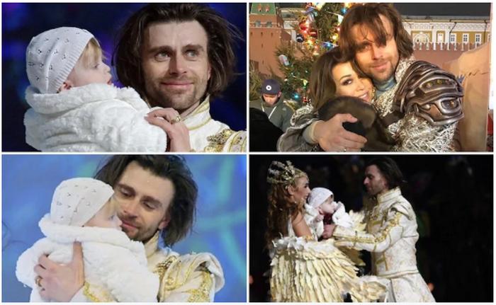 Петр Чернышев вышел на лед с годовалой дочерью Милой от Анастасии Заворотнюк