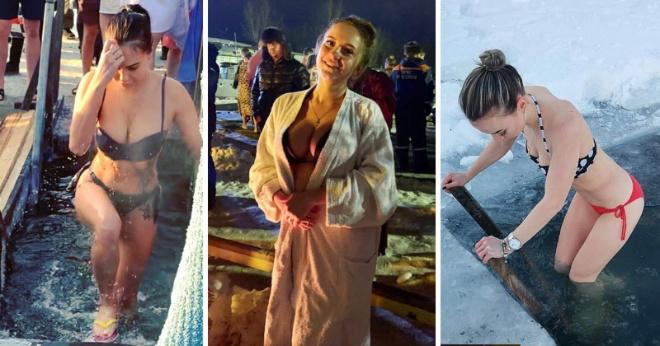 Самые сногсшибательные девушки крещенских купаний 2020